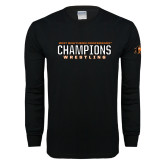Black Long Sleeve T Shirt-2017 Southern Conference Wrestling