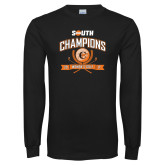 Black Long Sleeve T Shirt-2017 Big South Champions Womens Golf