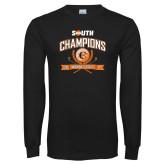 Black Long Sleeve T Shirt-2017 Big South Champions Womens Golf