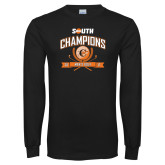 Black Long Sleeve T Shirt-2017 Big South Champions Mens Golf