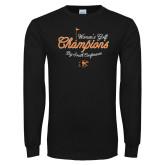 Black Long Sleeve T Shirt-2018 Womens Golf Champions