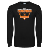 Black Long Sleeve T Shirt-2018 Baseball Champions