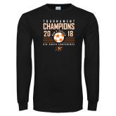 Black Long Sleeve T Shirt-2018 Mens Soccer Big South Champions