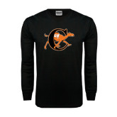 Black Long Sleeve TShirt-Campbell Official Logo
