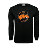 Black Long Sleeve TShirt-C w/ Camel Head