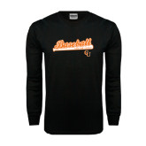 Black Long Sleeve TShirt-Baseball Bat Design