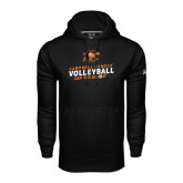 Under Armour Black Performance Sweats Team Hoodie-Can You Dig It - Volleyball Design