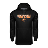 Under Armour Black Performance Sweats Team Hoodie-Track and Field Design