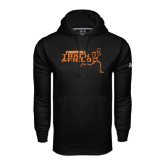 Under Armour Black Performance Sweats Team Hoodie-Track and Field Runner Design