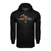 Under Armour Black Performance Sweats Team Hoodie-Swimming Design