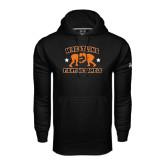 Under Armour Black Performance Sweats Team Hoodie-Wrestling Design