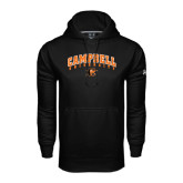 Under Armour Black Performance Sweats Team Hoodie-Arched Campbell University