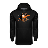 Under Armour Black Performance Sweats Team Hoodie-Campbell Official Logo