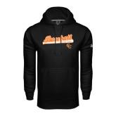 Under Armour Black Performance Sweats Team Hoodie-Baseball Bat Design