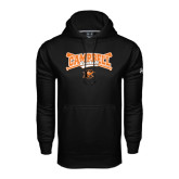 Under Armour Black Performance Sweats Team Hoodie-Baseball Crossed Bats Design