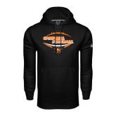Under Armour Black Performance Sweats Team Hoodie-Inside Football Ball Design