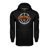 Under Armour Black Performance Sweats Team Hoodie-Basketball Ball Design