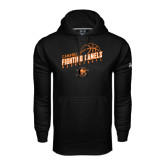 Under Armour Black Performance Sweats Team Hoodie-Basketball Stacked Design