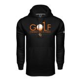 Under Armour Black Performance Sweats Team Hoodie-Golf Text Design