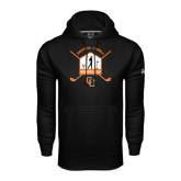 Under Armour Black Performance Sweats Team Hoodie-Golf Crossed Sticks Designs