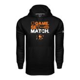 Under Armour Black Performance Sweats Team Hoodie-Game Set Match Tennis Design