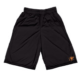Midcourt Performance Black 9 Inch Game Short-Campbell Official Logo