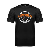 Performance Black Tee-Basketball Ball Design