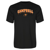 Performance Black Tee-Arched Campbell University