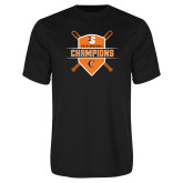 Performance Black Tee-2018 Baseball Champions