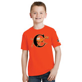 Youth Orange T Shirt-Campbell Official Logo