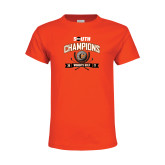 Youth Orange T Shirt-2017 Big South Champions Womens Golf