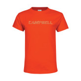 Youth Orange T Shirt-Rhinestone Campbell, Orange Rhinestones