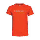 Youth Orange T Shirt-Rhinestone Campbell, Crystal Rhinestones