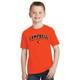 Youth Orange T Shirt-Arched Campbell University
