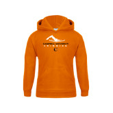 Youth Orange Fleece Hoodie-Swimming Design