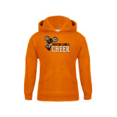 Youth Orange Fleece Hoodie-Cheer Design