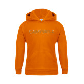 Youth Orange Fleece Hoodie-Rhinestone Campbell, Orange Rhinestones