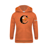 Youth Orange Fleece Hoodie-Campbell Official Logo