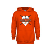 Youth Orange Fleece Hoodie-2018 Baseball Champions