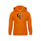 Youth Orange Fleece Hoodie-CU