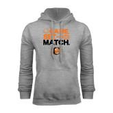 Grey Fleece Hoodie-Game Set Match Tennis Design