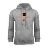 Grey Fleece Hoodie-Cross Country Design