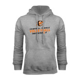 Grey Fleece Hoodie-Can You Dig It - Volleyball Design