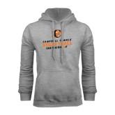 Grey Fleece Hoodie-Can You Dig It - Volleyball Design