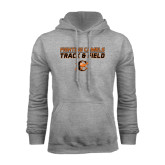 Grey Fleece Hoodie-Track and Field Design