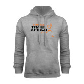 Grey Fleece Hoodie-Track and Field Runner Design