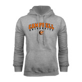 Grey Fleece Hoodie-Arched Campbell University