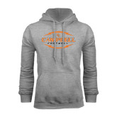 Grey Fleece Hoodie-Lighting Football Ball Design