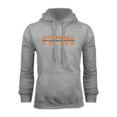 Grey Fleece Hoodie-Soccer Design