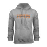 Grey Fleece Hoodie-Soccer Design